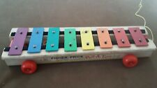 Vintage Fisher Price Pull a Tune Xylophone #870 ~ 1964