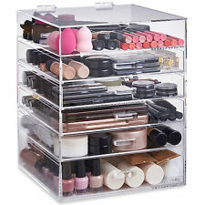 Beautify Acrylic Extra Large Make up Organiser 6 Tier Clear Cosmetic Drawer 8