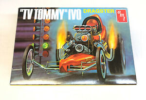 2009 AMT TV Tommy Ivo Front Engine Dragster 1:25 Scale Model Kit # 621 Open Box