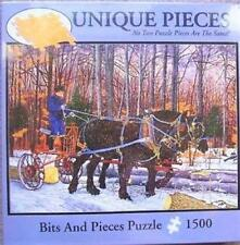 BITS AND PIECES PUZZLE WORK HORSES LUMBERING THELMA WINTER 1500 PCS #47572