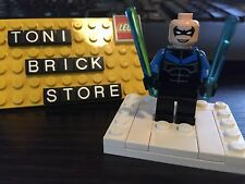 Lego 7785 Batman Arkham Asylum Nightwing Minifigure NO Hair Real LEGO Not Fake