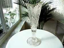"""Antique Glass McKee Champion Pattern Clear 10"""" Centerpiece Vase  1896"""