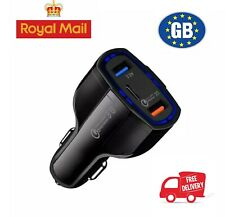USB 3.0 5V Fast Car Charger 3A Hight Speed LED Dual Iphone Samsung Type-C Cable