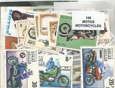 """Lot 100 timbres thematique """" Motos"""""""