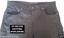 Rare and Awesome Polo Ralph Lauren 100% LINEN 36/32 Black JEANS *Make An Offer!*