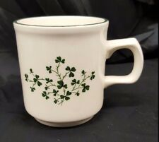 Carrigdhoun Pottery Co-op Cork Ireland Shamrock Clover Tea Cup Mug Irish Ireland