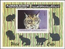 Ajman 1972 Lynx/Wildlife/Cats/Animals/Nature/Conservation 1v imperf m/s (s4336)