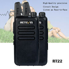 2pcs retevis rt22 walkie talkie super fina 16 canales UHF radio CTCSS/DCS vox