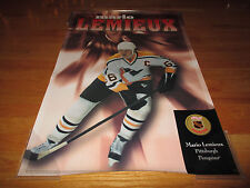 RARE 1996 Kellogg's MARIO LEMIEUX PITTSBURGH PENGINS Canadien Collection Poster