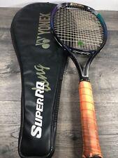 """Yonex SUPER RQ-500 Racquet Long 105"""" Grip 4 5/8 carry bag Zipper Zips See Pic"""