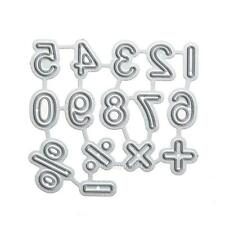 Number Symbol Metal Cutting Dies Stencil DIY Scrapbooking Album Paper Card Craft