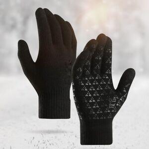 Thermal Touch Screen Winter Knitted Glove Warm Velvet Outdoor Sport Antiskid