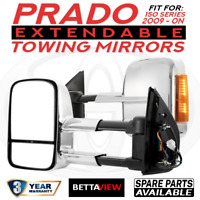 BettaView Extendable Caravan Towing Mirrors Toyota Prado 150 Series 2009 Onwards