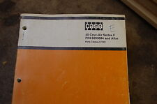 CASE 40 Series F Cruz Air Wheel Excavator Parts Manual book catalog list drott