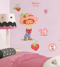 Strawberry Shortcake Kitten Butterfly Berry Cool Girl Wall Large Decal Set Decor