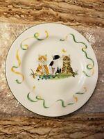 "Lynn Chase Kitten Kapers China Plate 8"" salad plate"