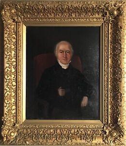 Early C19th Oil Portrait William Edye (1763-1837) Gilt Frame Provenance Stunning