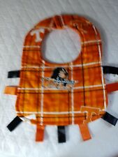 NCAA TENNESSEE VOLS  INFANTS QUILTED BIB WITH RIBBONS