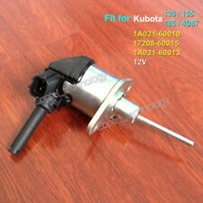 1A021-60010 Fuel Shutoff Solenoid 17208-60015 12V for Kubota 135 155 185 4D87