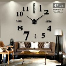 Big Mirror Wall Clock Modern Design 3D DIY Large Decorative Wall Clocks Watch