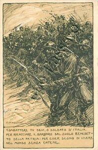 489 - Regno - Franchigia militare F 14F/2, 1917 / illustratore Mazzoni