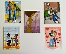 5 x POC Romantic Greeting Cards with envelopes