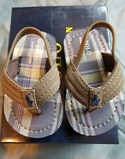 New!!! Boys POLO Ralph Lauren Theo Brown Sandals Size   5 Toddler