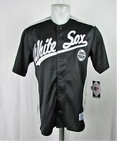 Chicago White Sox Men's M-2XL Button-Up Embroidered Jersey MLB Black