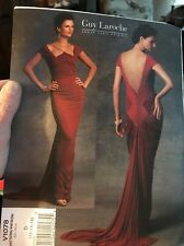 Vogue Sewing Pattern V1078 Guy Laroche Misses Fitted Evening Dress Size 12-14-16