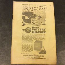 Vintage Advertisement - Standard Telephones & Cables Battery Charger - 1954