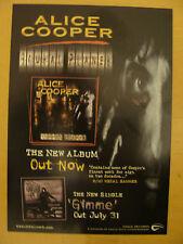 Flyer: Alice Cooper - Rare Brutal Planet Album Promo