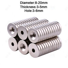 Neodymium Magnets Countersunk Ring Hole Rare Earth Magnet Diameter 8mm 20mm N35