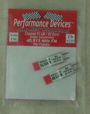 40Mhz Futaba Single Conversion FM TX/RX Crystal Set UK CH91/Euro CH87 40.915Mhz