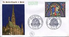FRANCE FDC - 584 1492 2 VITRAIL DE LA SAINTE CHAPELLE - GF 22 Octobre 1966 -LUXE