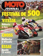MOTO JOURNAL  612 HONDA CX 650 E Grand Prix de BELGIQUE Accossato 80 Enduro 1983