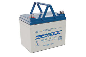 PS-12350 Power-Sonic 12 volt 35Ah Rechargeable Lead Acid 12 V PS12350 Battery