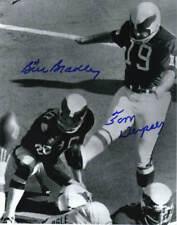 TOM DEMPSEY & BILL BRADLEY SIGNED EAGLES 8X10 PHOTO #1
