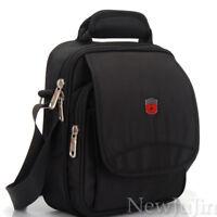 "Swiss Gear Men Messenger Bag Shoulder 8"" Tablet PC Satchel 900D Nylon Black"