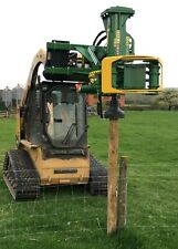 Grab-n-Drive fence post driver attachment model GD30S with log grapple