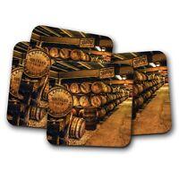 4 Set - Scottish Distillery Whiskey Coaster - Beverage Mature Age Gift #16369