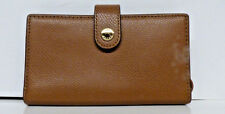 COACH F53977 PHONE Clutch CROSSGRAIN Leather SADDLE NWT $95