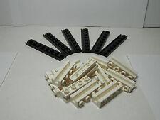 LEGOS  -  18 piece Door Rail Plates and Groove Bricks BLACK / WHITE  Star Wars
