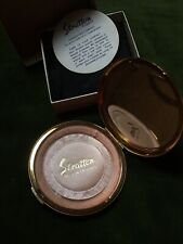 Stratton 1970s Boxed Compact Pouch Case Label Puff Sifter Etched Design Vintage