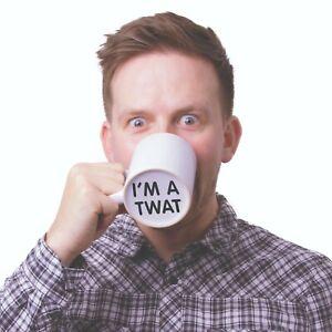 I'm A Twat Novelty White Ceramic Mug Fun Hidden Rude Message NEW BOXED FAST POST