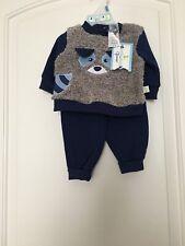 Duck Duck Goose Infant Baby Boy's 2 Pc Set Shirt Sweat Pants Sz 0/3M