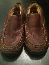 Timberland Slip On Brown Leather Loafers Shoes Toddler Boys 46824M Size 8.5