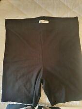 Topshop Ribbed Stretchy Black Shorts Size 14