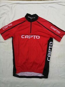 () Capto Cycling Men Jersey Short Sleeve red-black-white  Size L