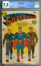 SUPERMAN #12 CGC 7.5 WHITE PAGES // GOLDEN AGE LUTHOR APPEARANCE 1941