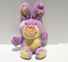 Vtg 80s Playskool Easter Basket Nosy Bear Bunny Rabbit Plush Rare